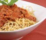 Turkey Bolognese with Spaghetti