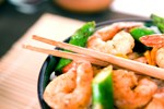 Sichuan Shrimp with Mung Bean Noodles