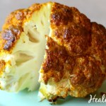 Whole Roasted Cauliflower with Indian Spice