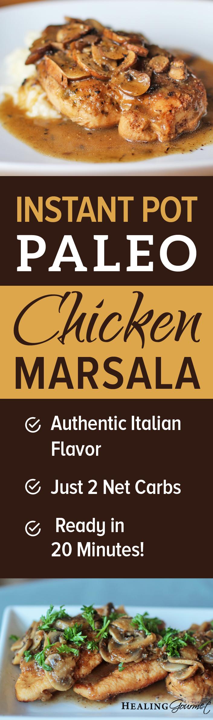 Instant Pot Chicken Marsala
