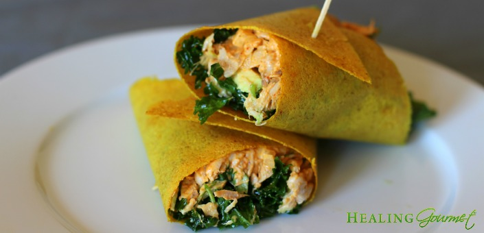 PALEO CURRY CHICKEN SALAD WRAPS 3