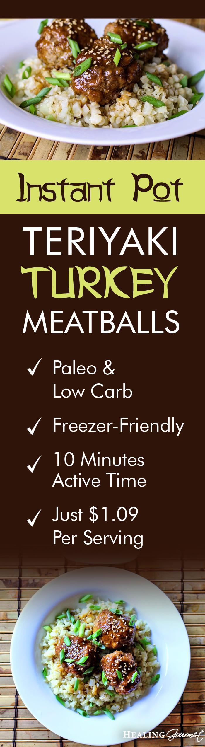 Instant Pot Teriyaki Turkey Meatballs