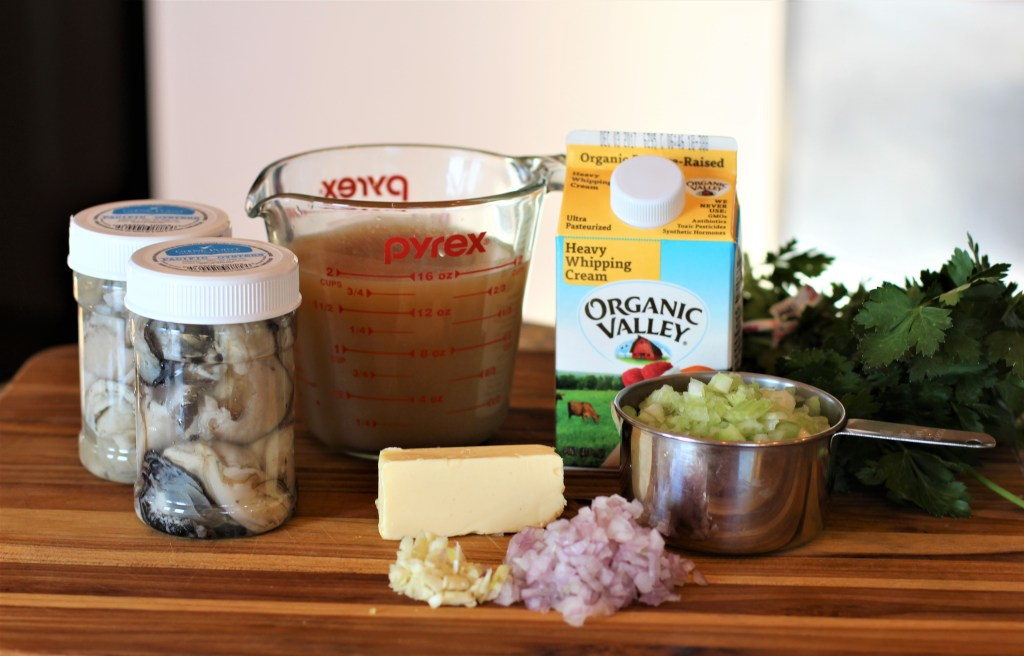 ingredients for instant pot oyster stew
