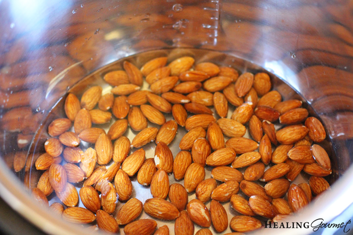 Add almonds to instant pot