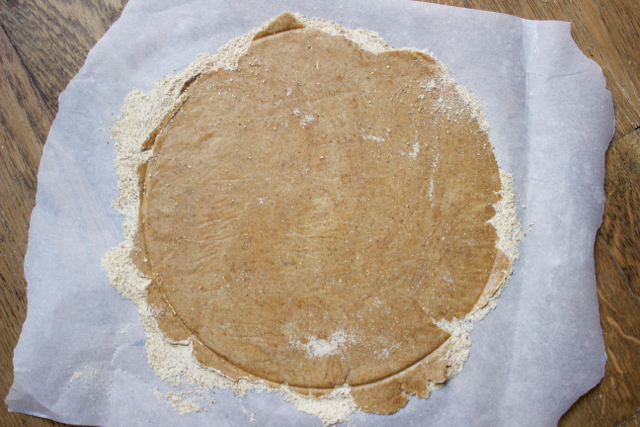 tarte tatin crust dough rolled out