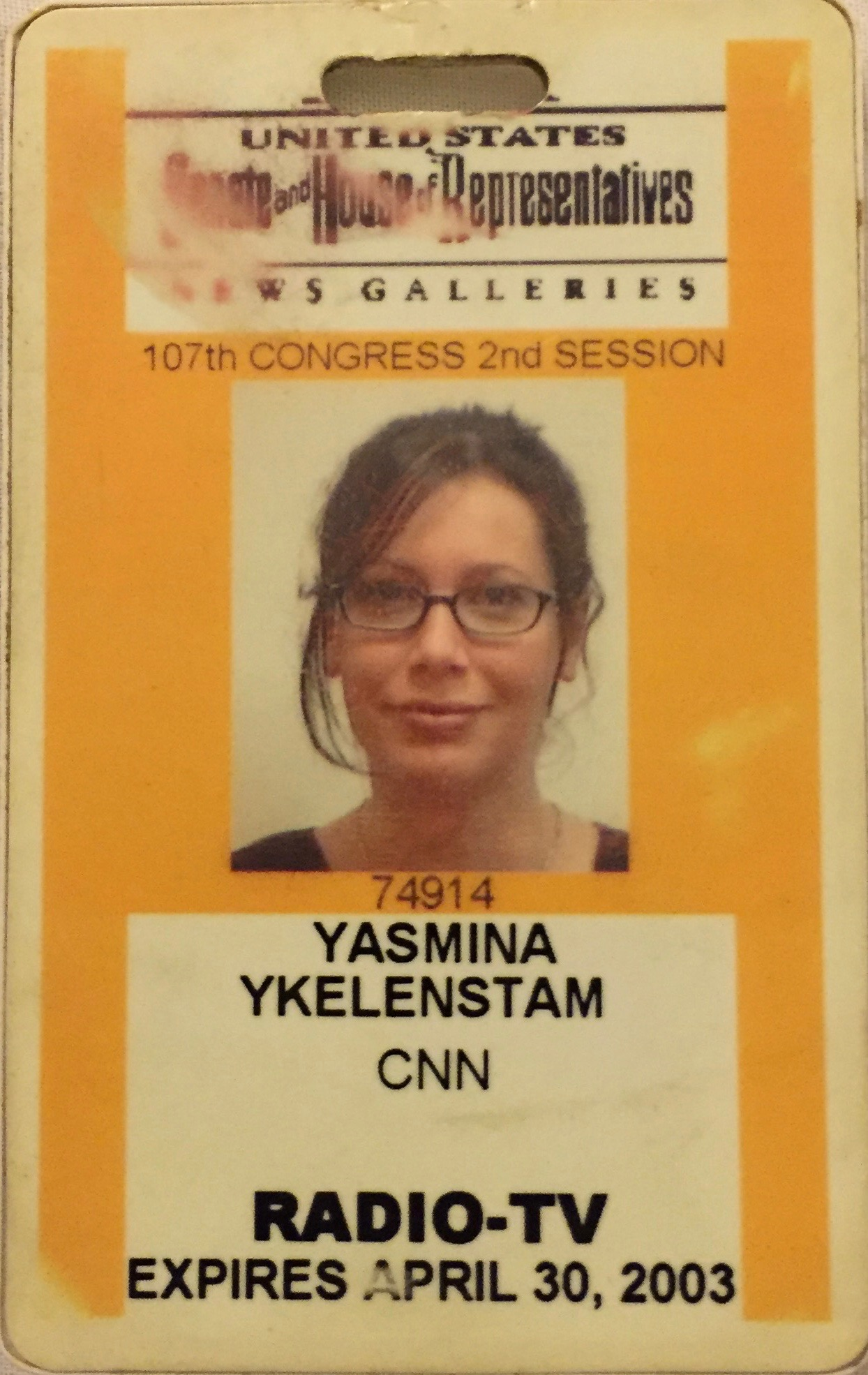My Washington DC CNN press pass