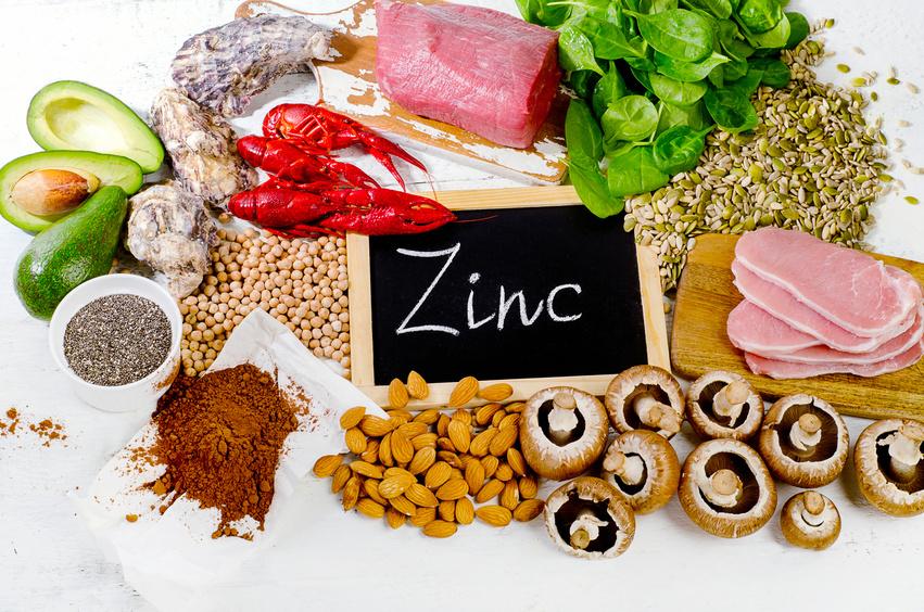 Foods Highest in Zinc. Flat lay