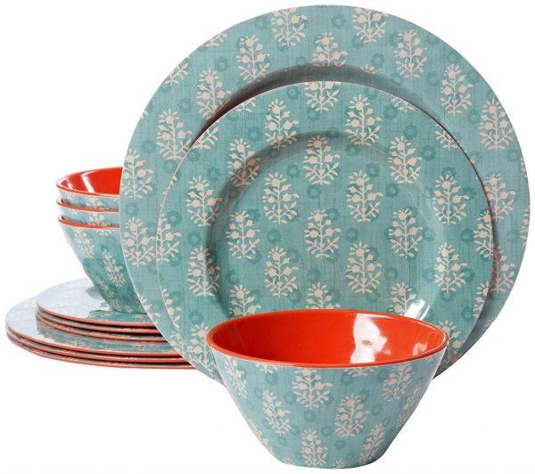 Laurie Gates Melamine Dinnerware Sets