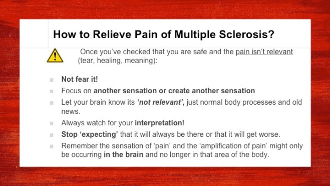 multiple sclerosis pain relief healing multiple sclerosis