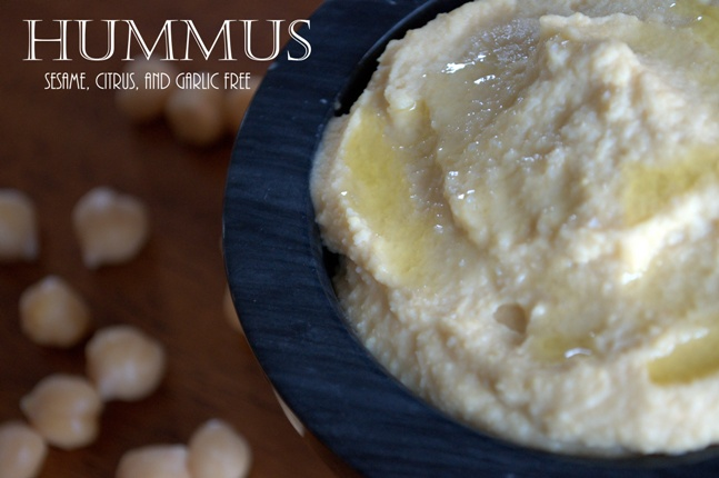 Hummus (sesame, citrus, and garlic free)