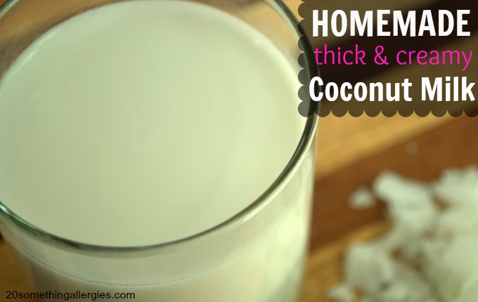 Homemade Thick & Creamy Coconut Milk
