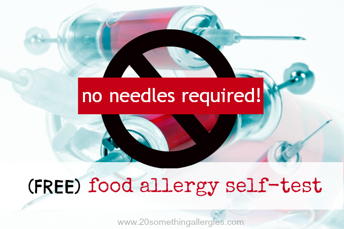 Are you allergic to [insert food here]? Test yourself for FREE