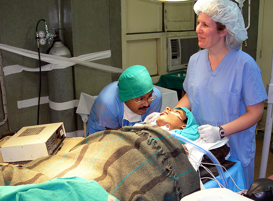 spinal surgery patient