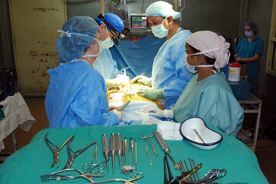 operating room, india