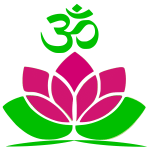 Om Lotus Flower Logo