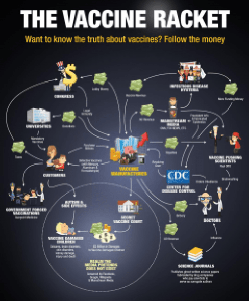 The Vaccine Racket infographic by Natural News
