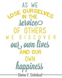 lose self. Uchtdorf