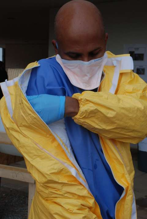 Sri Ebola training