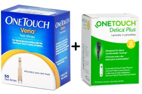 One touch Verio flex Strips Delica plus lancets