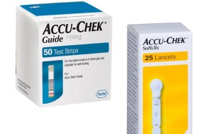 Accu-chek guide strips and lancets