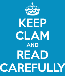 keep-clam-and-read-carefully