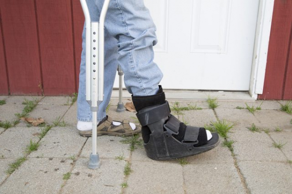 How to Wear a Walking Boot & Use Crutches