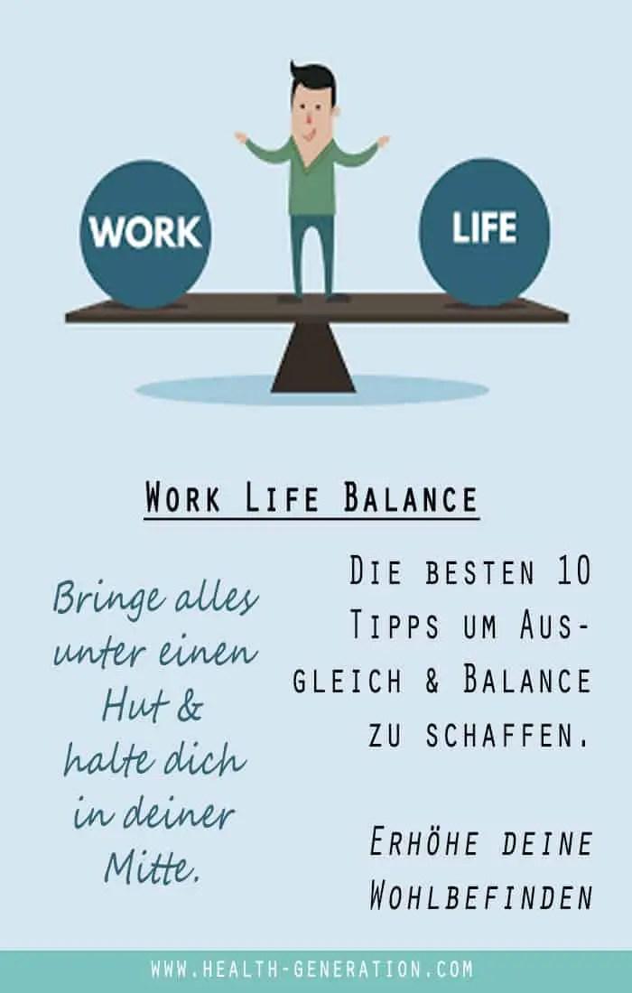 Work Life Balance Tipps