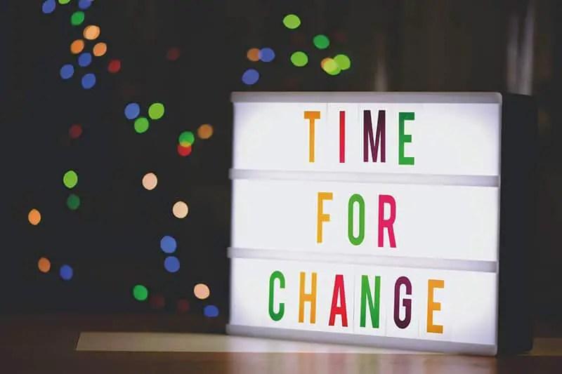 Zeit für Veränderung Leben ist Wandel