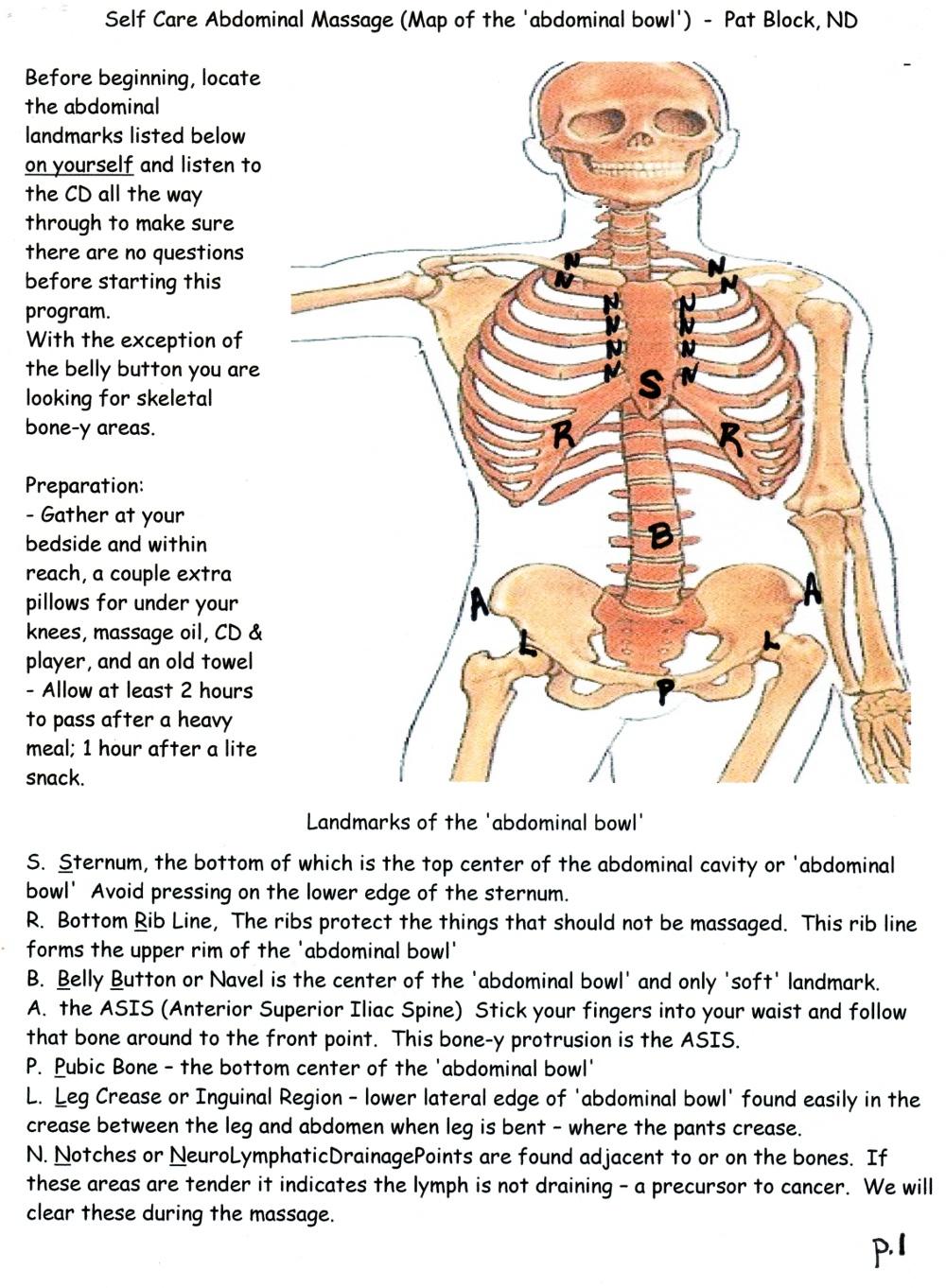 medium resolution of abdominal massage diagram below