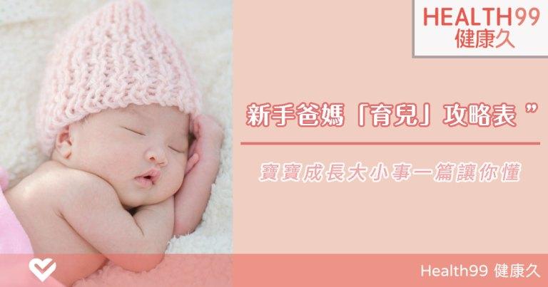 新生兒照護重點!新手爸媽必看「0~1歲寶寶」育兒攻略