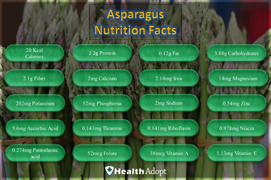 ASPARAGUS Nutrition Facts And Nutrients