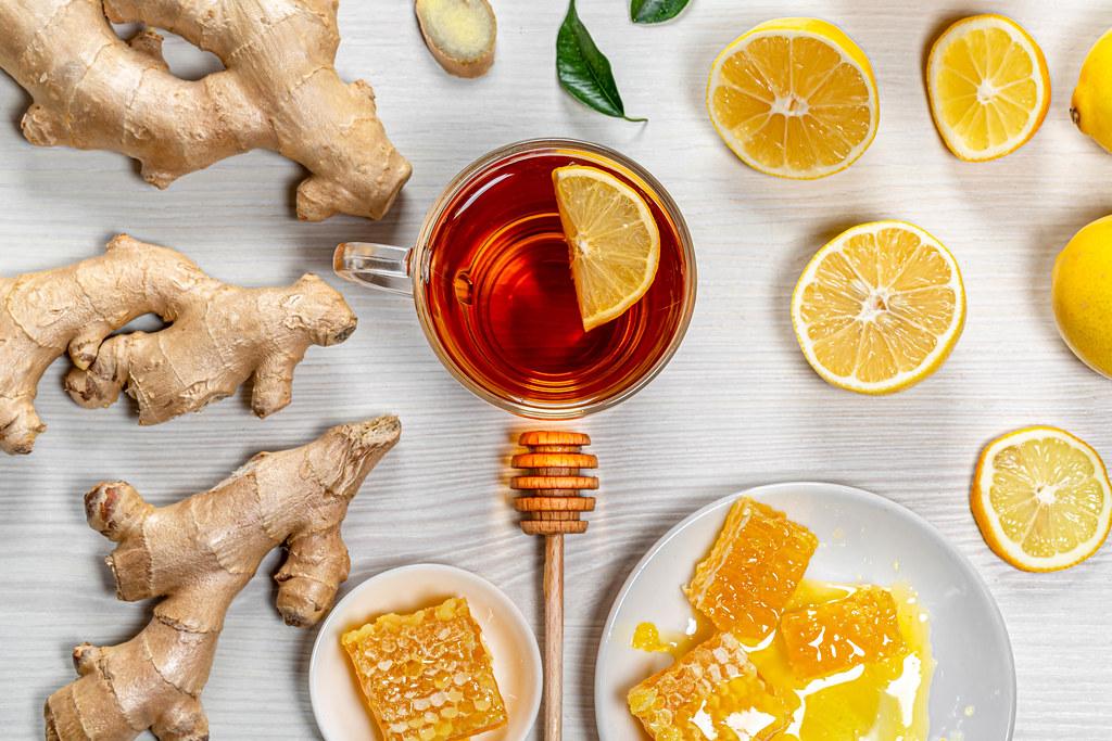Ginger Root Tea for Sore Throat