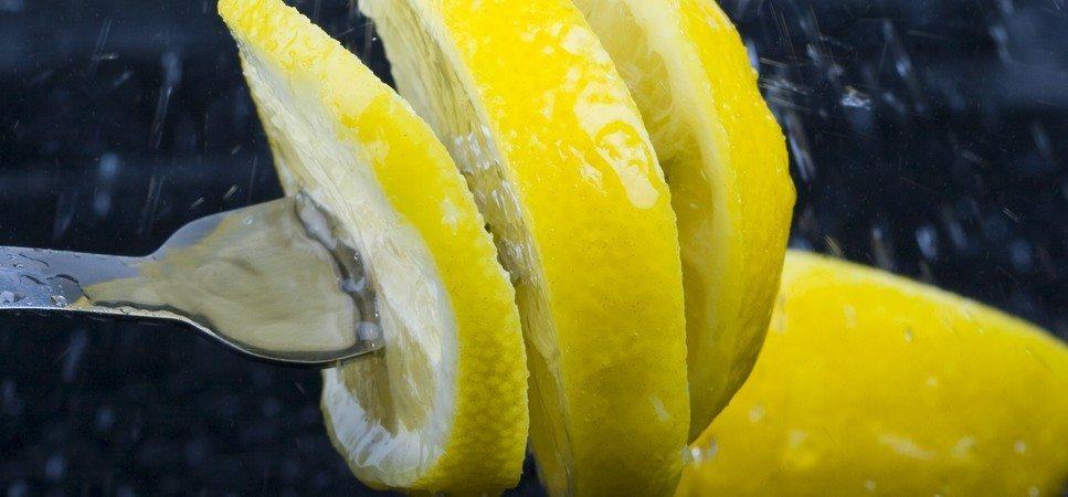 lemons in a fork