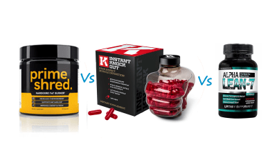 PrimeShred Vs Instant Knockout Vs Alpha Lean 7
