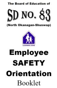 Employee Safety Orientation Booklet