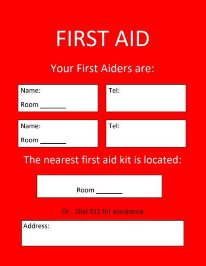 First Aid Location Template