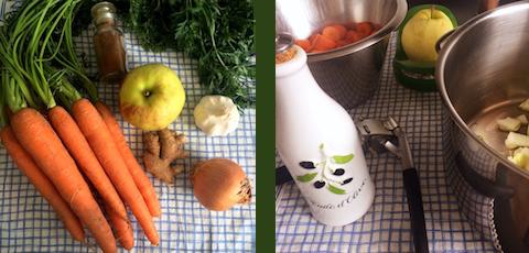 Möhren-Ingwer-Suppe vegan Zutaten und Zubereitung