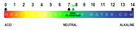 Ph balance in human body - Acid/Alkaline color chart