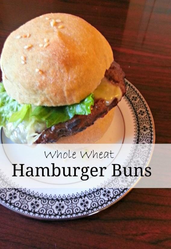 Whole wheat hamburger buns www.thatswhatieat.com
