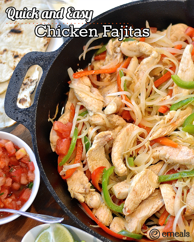 Quick easy healthy chicken fajitas health by emily when it comes to recipes the words quick and easy are my favorites and when that recipe is also something healthy and delicious even better forumfinder Choice Image