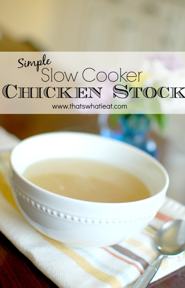 Simple slow cooker chicken stock