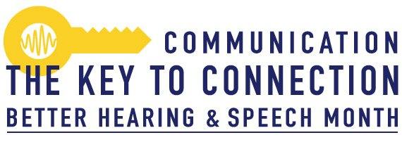 2017 Better Hearing Speech Month logo