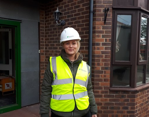 Sam Cottam - Samantha Cottam, Exemplar Health Care Commissioning Home Director, stands outside Tyne Grange, Newcastle