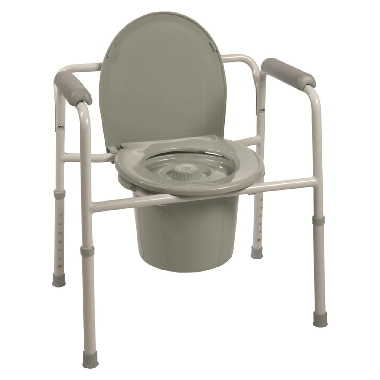 ProBasics Three-in-One Steel Commode with Plastic Armrests | Michigan USA