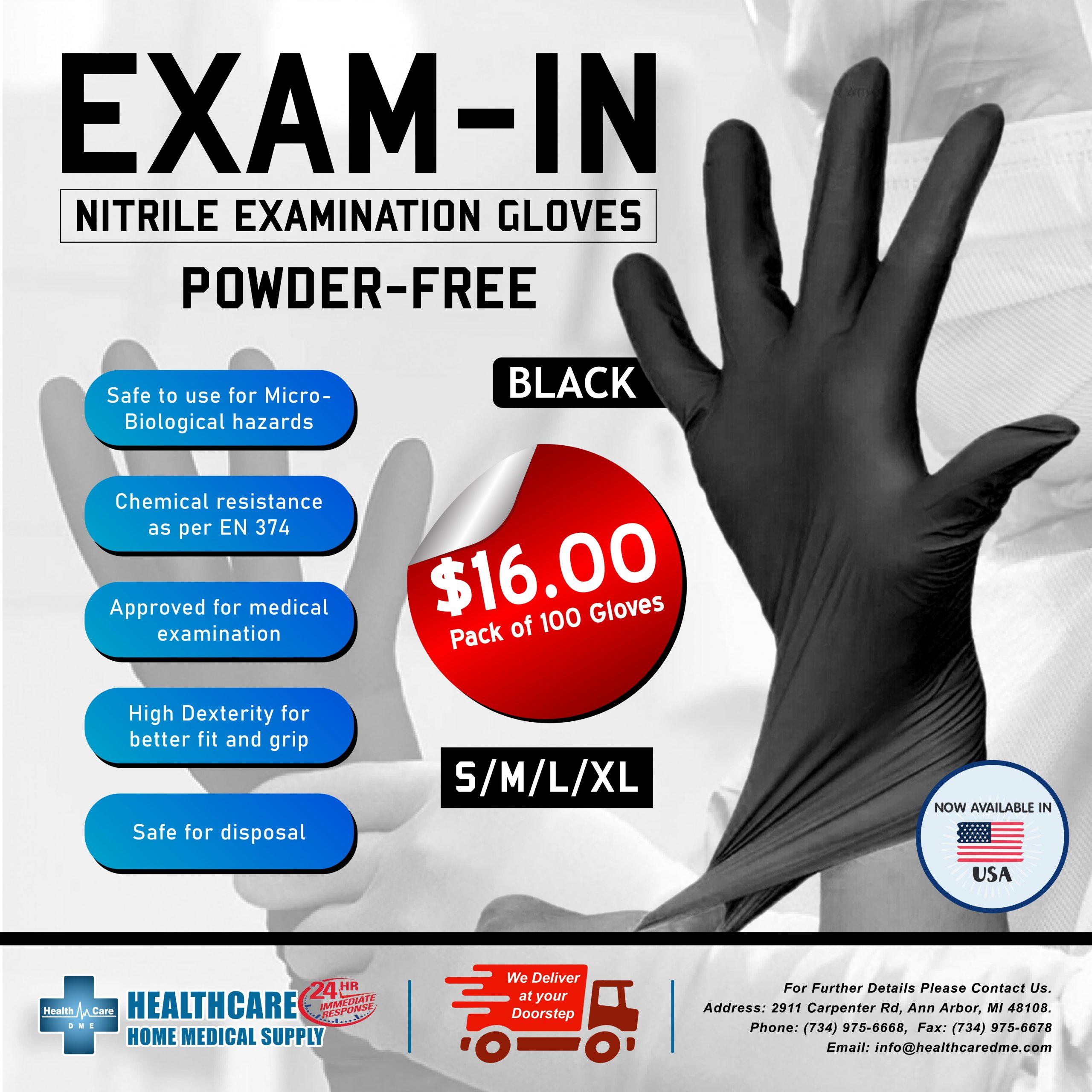 Nitrile Exam Gloves Powder-Free   Michigan USA