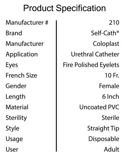 Catheter Specification 1-01