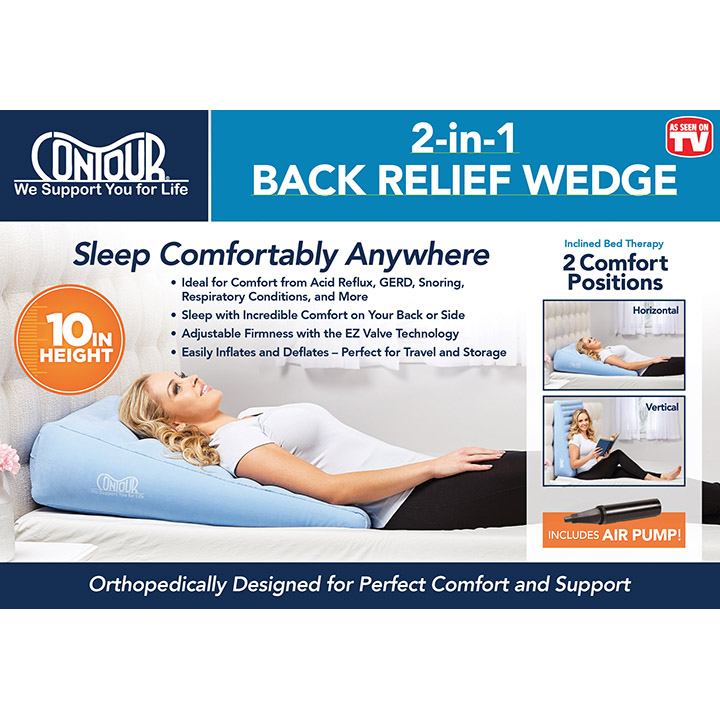 Contour 2-in1 Back Relief Wedge Cushion   Michigan USA