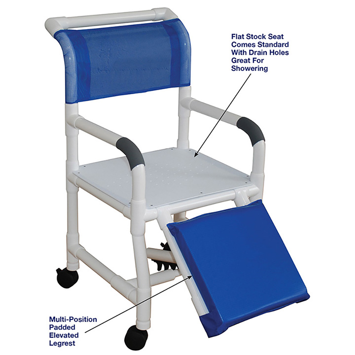 MJM Shower Commode Chair for Below Knee Amputees 118-3-AF in Michigan USA
