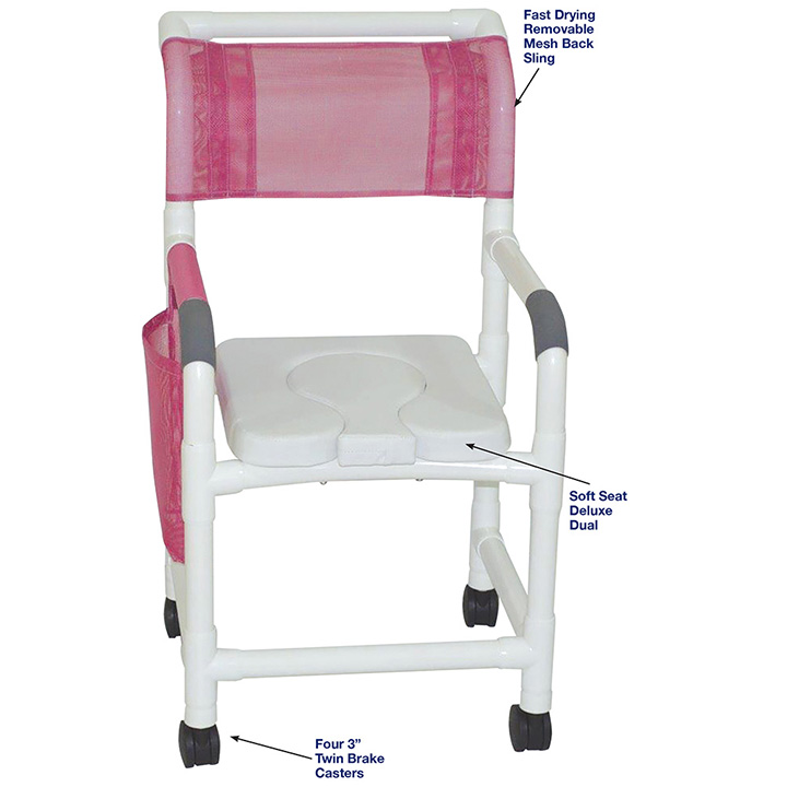 MJM SHOWER CHAIR WITH SOFT SEAT DELUXE DUAL in Michigan USA