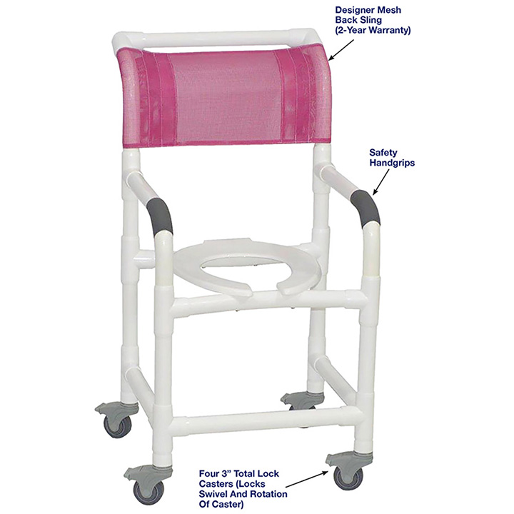 MJM SHOWER CHAIR WITH TOTAL LOCK CASTERS in Michigan USA